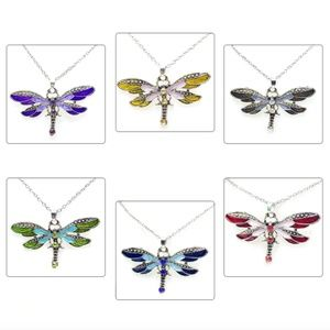 Boho Yellow Dragonfly/Butterfly Pendant Necklace